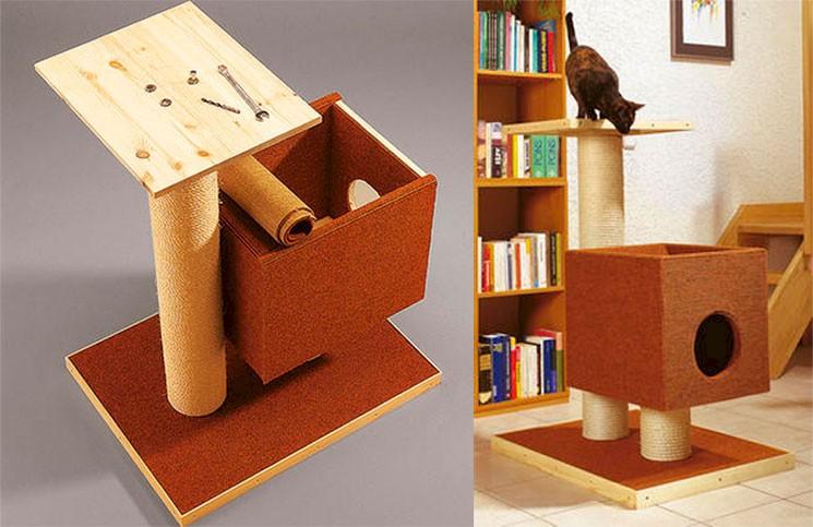 Домик для кошки своими руками: варианты, чертежи, размеры, каноны изготовления