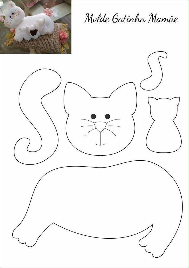 Гламурные коты – поделка из фетра своими руками