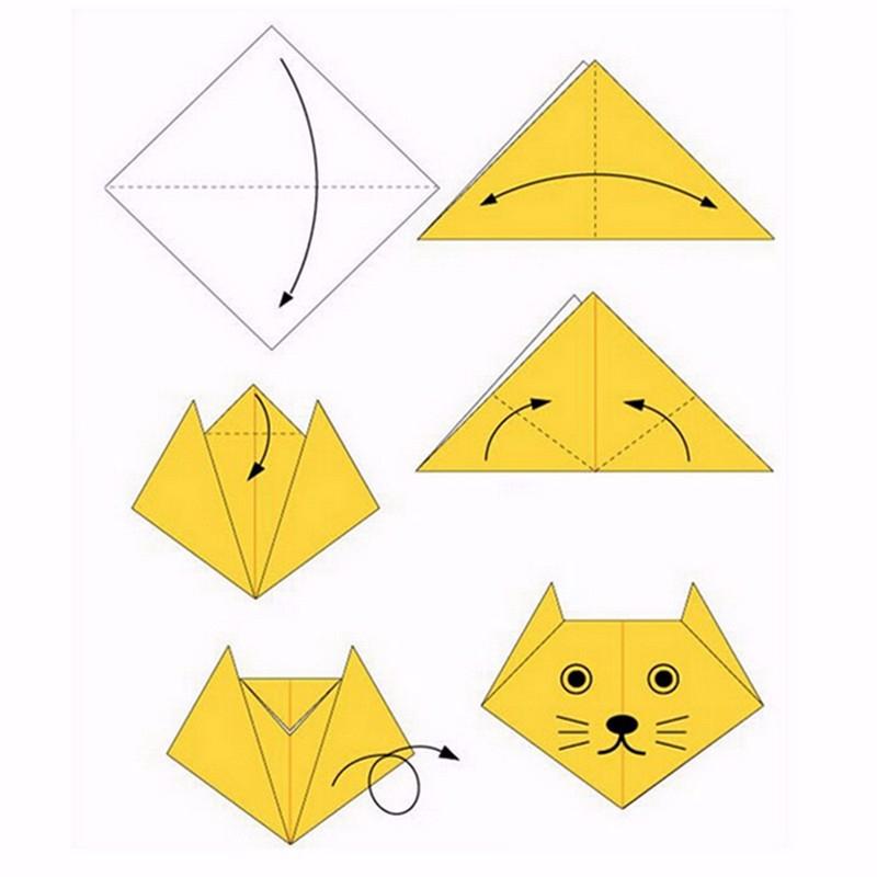 Оригами кошка — схемы, оформление, дизайн и методы сборки лучших моделей бумажной кошки, фото. как сделать кошку из бумаги — схема и шаблоны