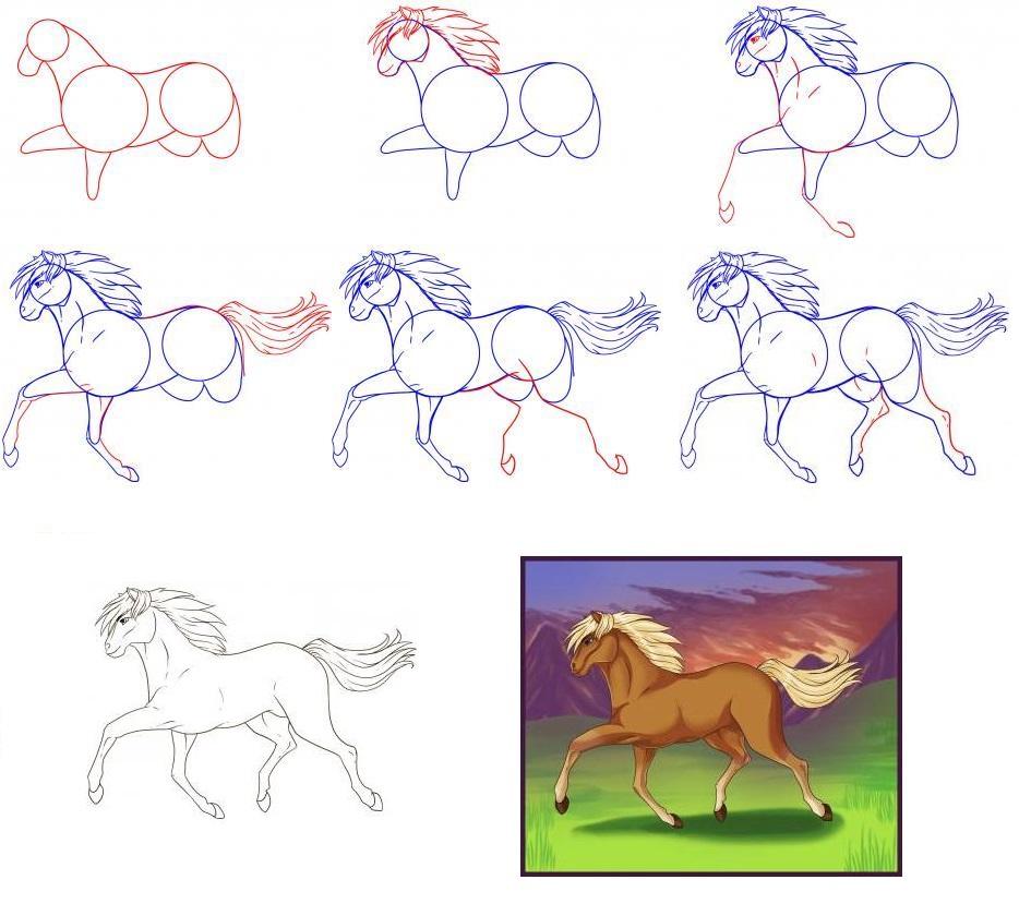 Как нарисовать человека на лошади простым карандашом: поэтапный метод