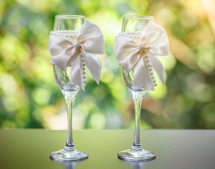 Свадебные фужеры своими руками: пошаговые мастер-классы с фото