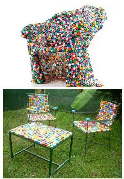 Как сделать кресло своими руками с помощью скотча и пластиковых бутылок