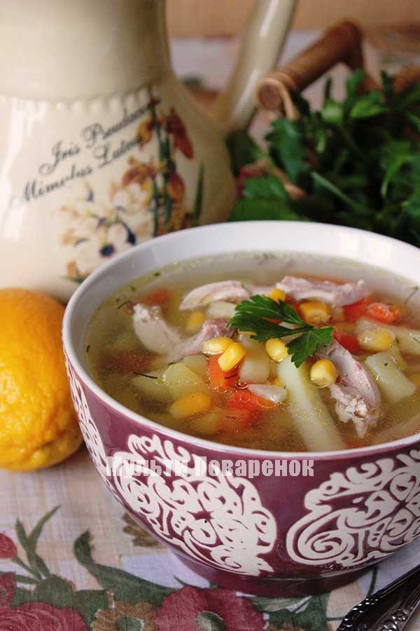 Куриный суп в мультиварке рецепт приготовления с фото