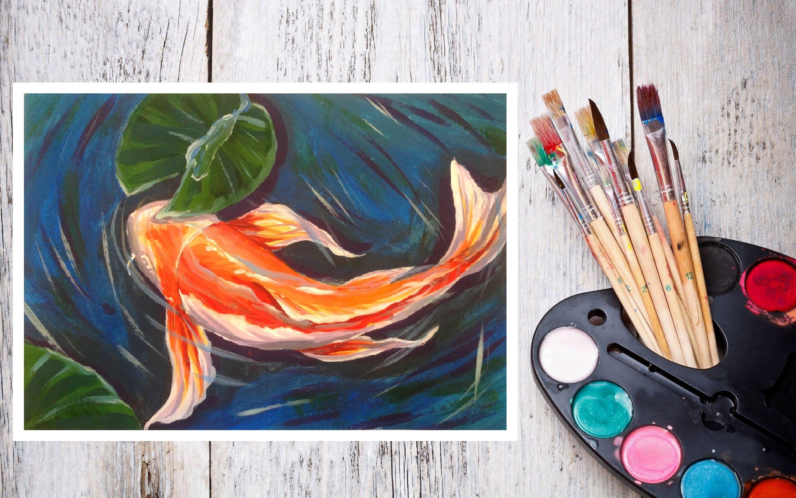 Как рисовать акриловыми красками? учимся рисовать (+18 фото)