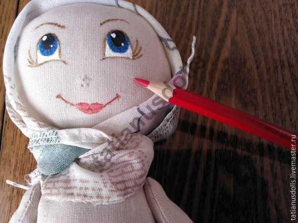 Кукла-домашка. часть первая. личико....   страна мастеров