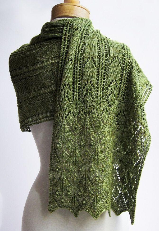33 схемы вязания палантина спицами, видео уроки,  вязание для женщин