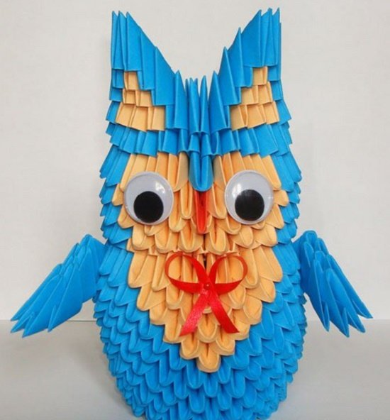 Модульное оригами птенец. игрушка из полиэтилена «птенец. сова из цветной бумаги - мастер-класс