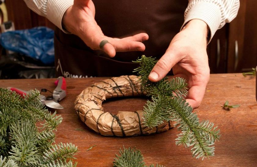 Как сделать новогодний венок своими руками: 70 крутых идей - лайфхакер