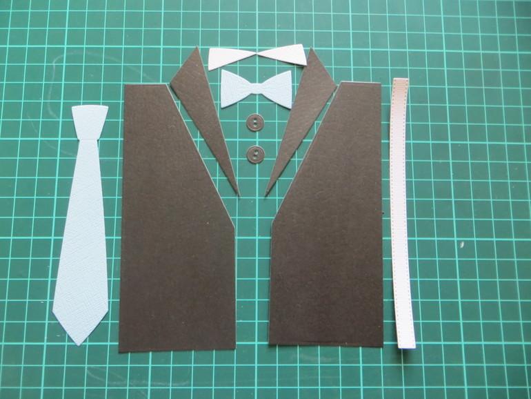 Scraphouse   скрапбукинг - мастер-класс   мужская рубашка из бумаги - украшение на открытку