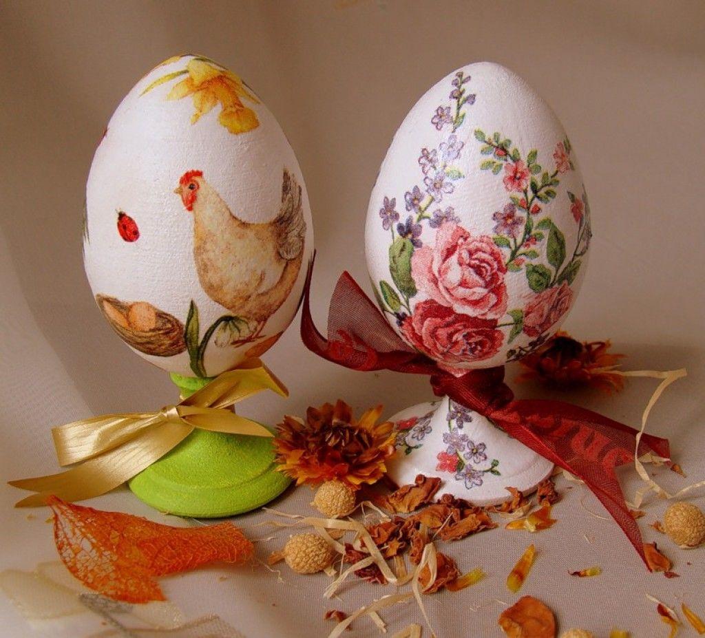 Красивый декупаж декоративных пасхальных яиц с фото и видео, картинками и мастер классами