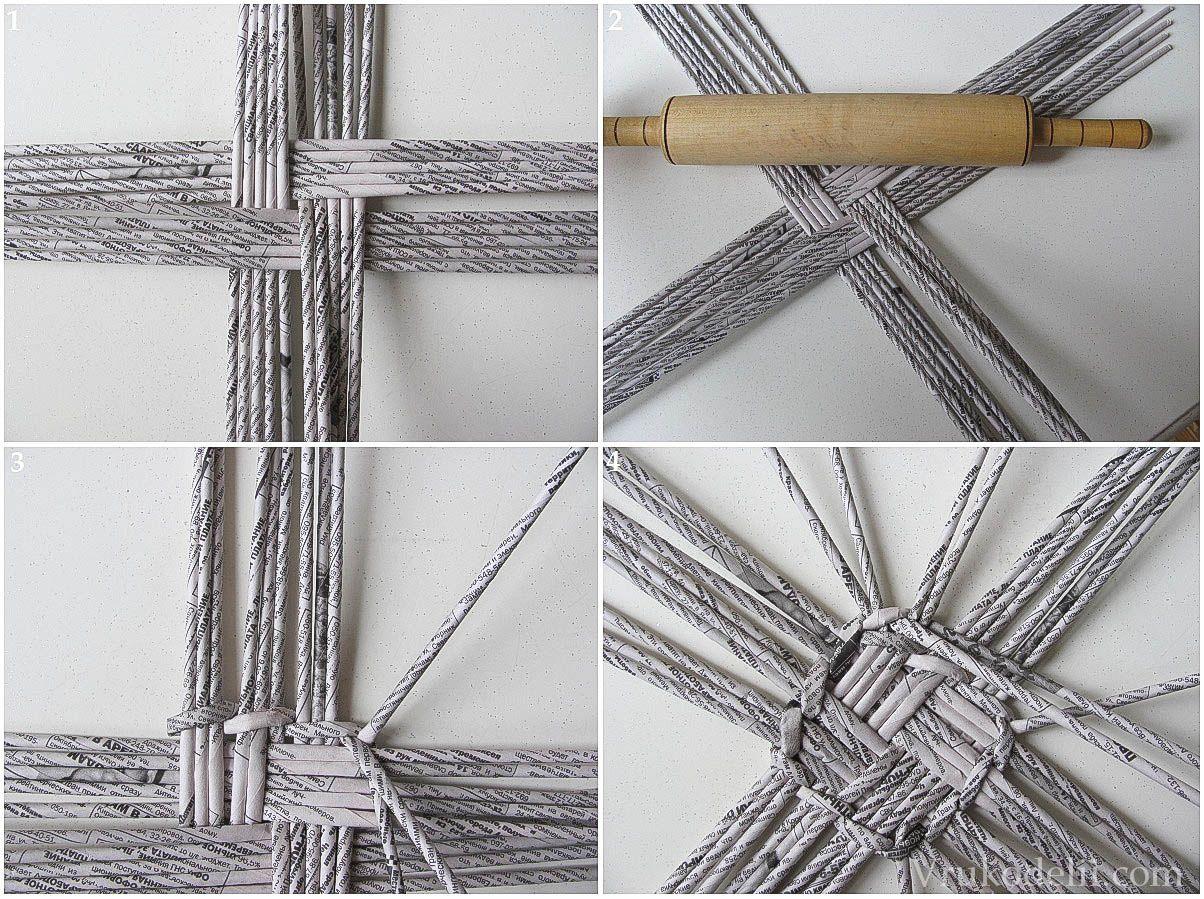 Плетение корзин из газетных трубочек - классические схемы и проекты для начинающих