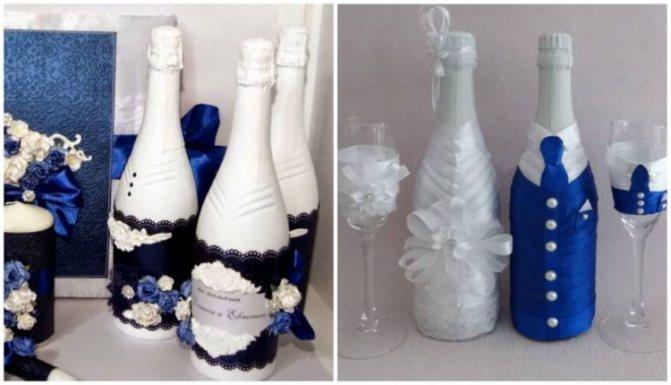 Как украсить бутылку шампанского на новый год 2020 своими руками: фото пошагово