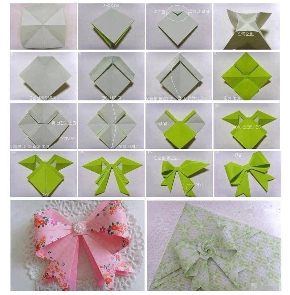 Оригами бантик: подробная инструкция выполнения по схеме, бантик-бабочка