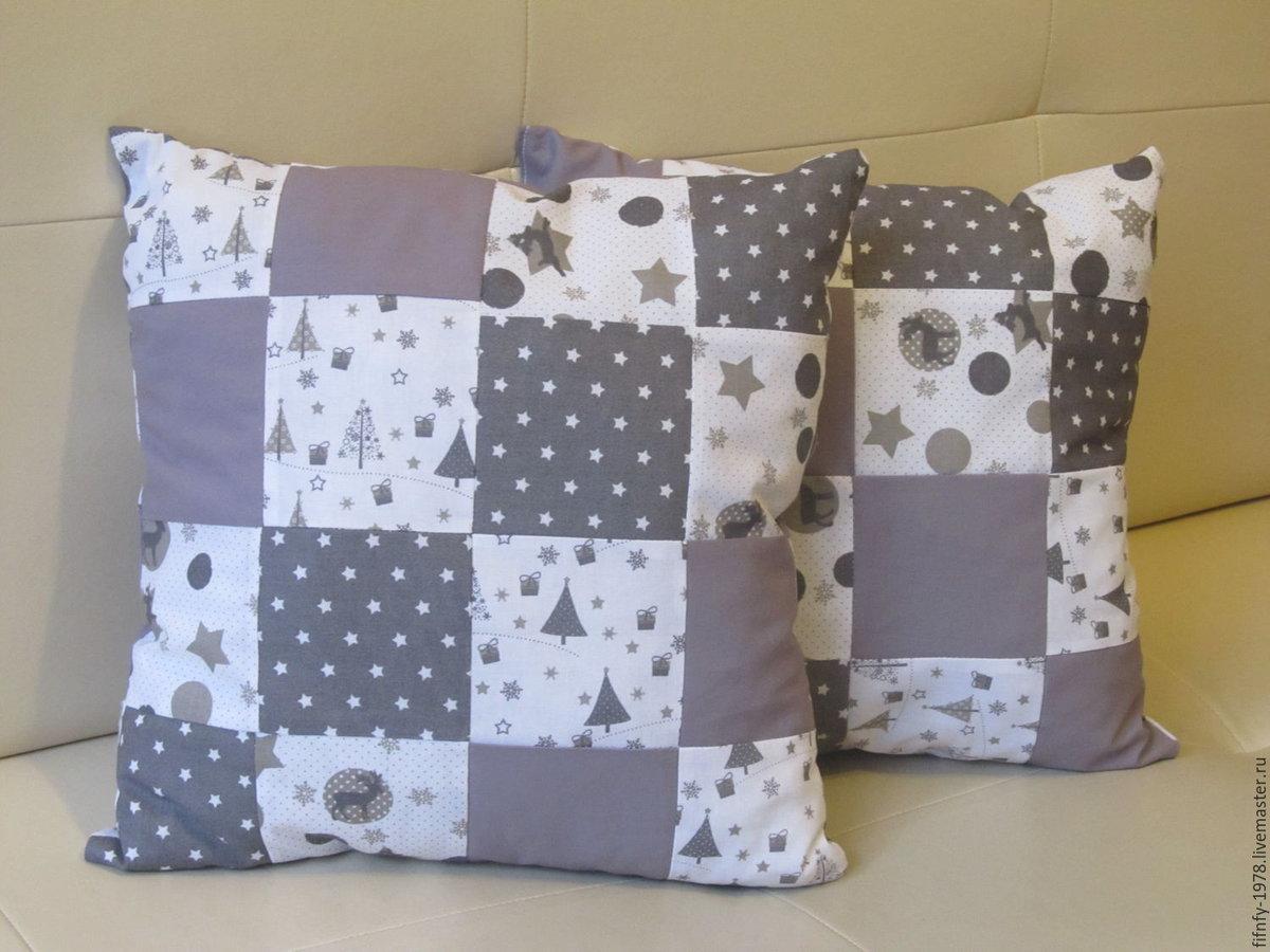 Сделай сам: подушка пэчворк с блоком «звезда»