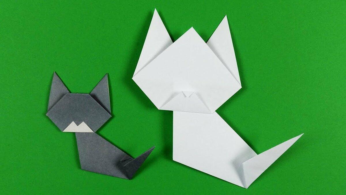 Оригами кошка: 115 фото лучших бумажных поделок для детей и взрослых