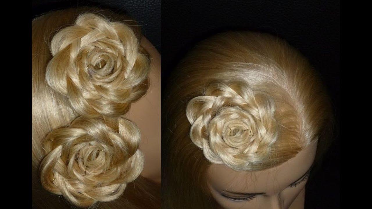 """Причёска """"роза"""" из волос: варианты исполнения, пошаговая инструкция, фото и видео"""