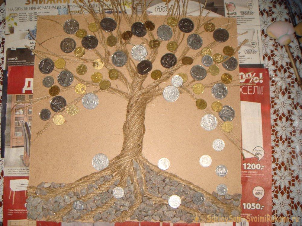 Топиарий из монет: как сделать денежное дерево своими руками