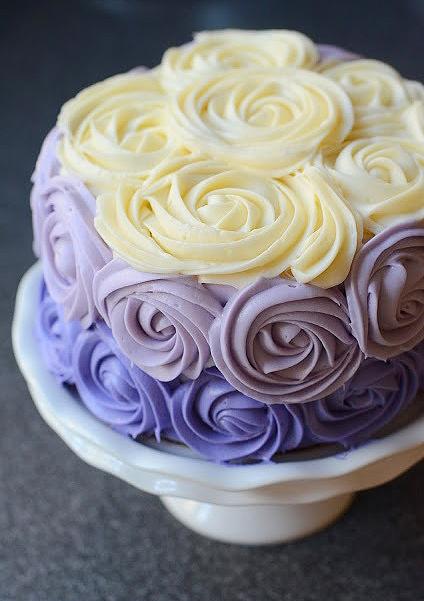 Торт с розами. украшение тортов. крем для розочек на торт