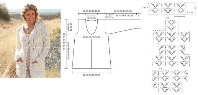 Подборка схем и узоров для вязания крючком модных жилетов