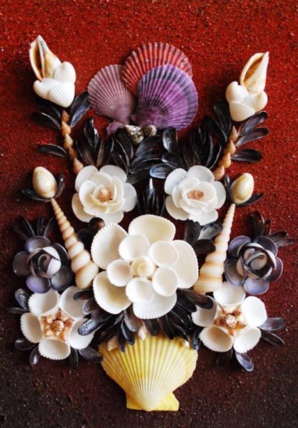 Картины из ракушек - идеи панно и композиций для интерьера и как сделать поделку своими руками с фото
