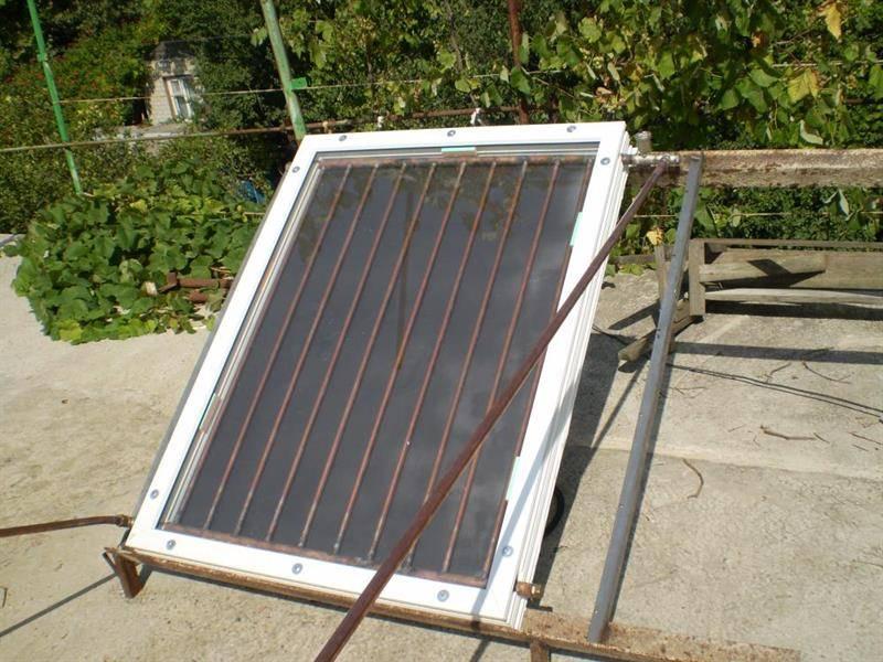 Солнечный коллектор своими руками для отопления дома