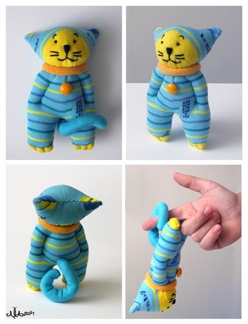Как сделать кота, кошку и котенка из носка, фото, идеи