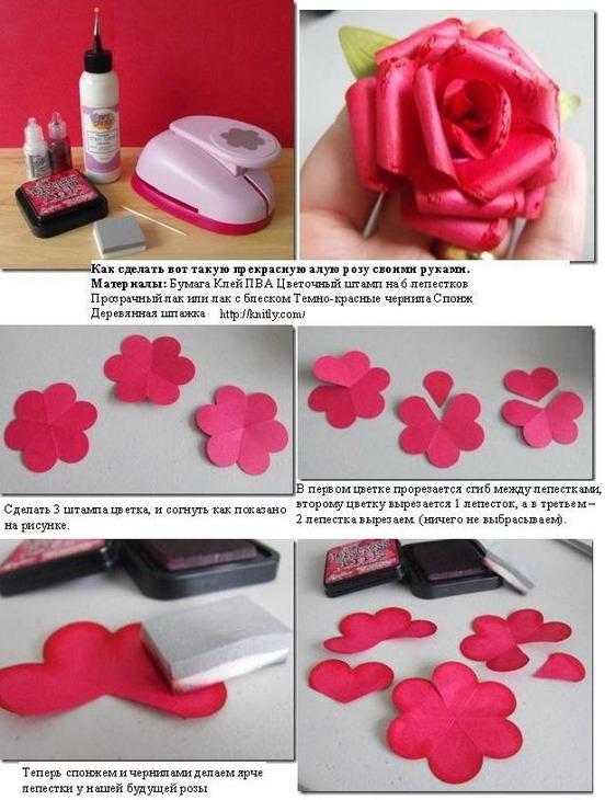 Как сделать розу своими руками - 58 фото идей реализации роз из разных материалов