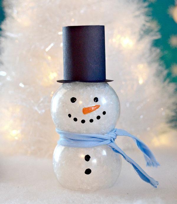 Снеговик своими руками на новый год 2019: пошаговые фото