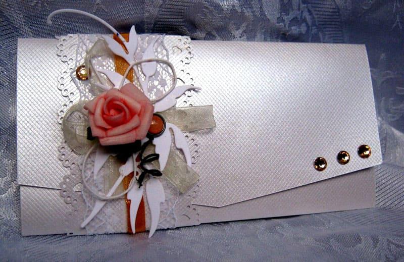 Оформление и сборка подарочного конверта на свадьбу своими руками