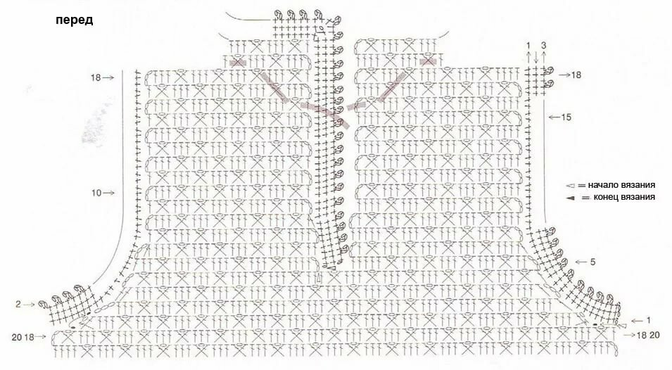 Как связать жилет крючком: схемы и описание