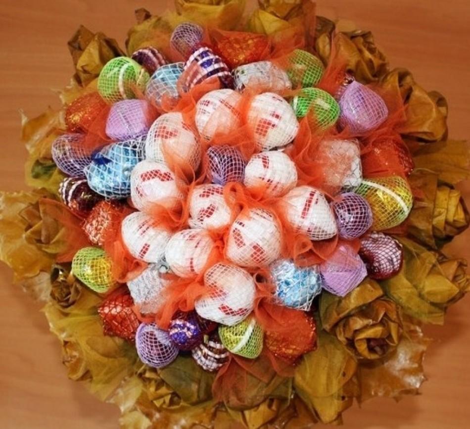 Букет из конфет своими руками, пошаговое фото для начинающих, простые мастер-классы, как сделать букет с конфетами