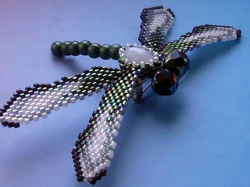Как сделать стрекозу из бисера — схемы и материалы, пошаговые инструкции для начинающих, эффектные фото идеи