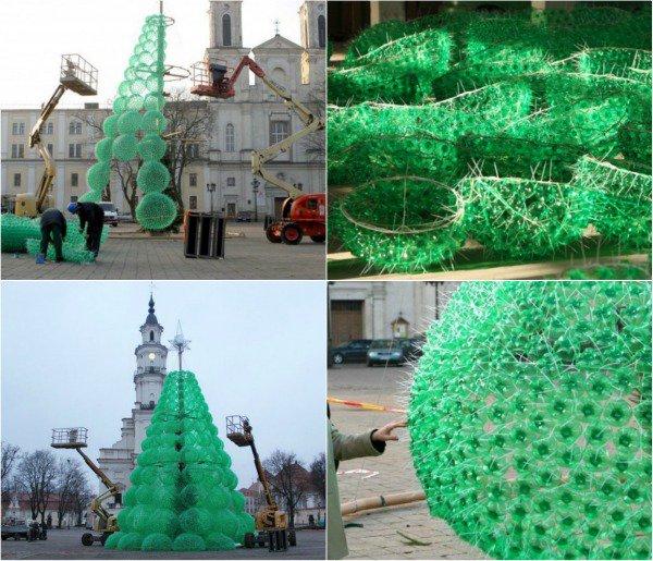 Креативные ёлочки из пластиковых бутылок - irzeis — жж. как сделать ёлку из пластиковых бутылок как сделать елку пошагово из бутылки
