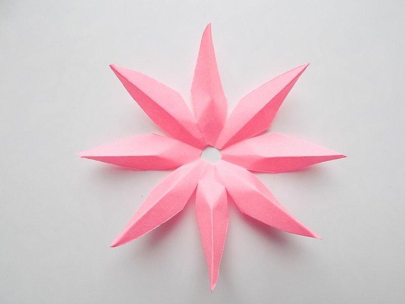 Лотос из бумаги: как сделать объемный цветок в технике оригами, фото и видео уроки