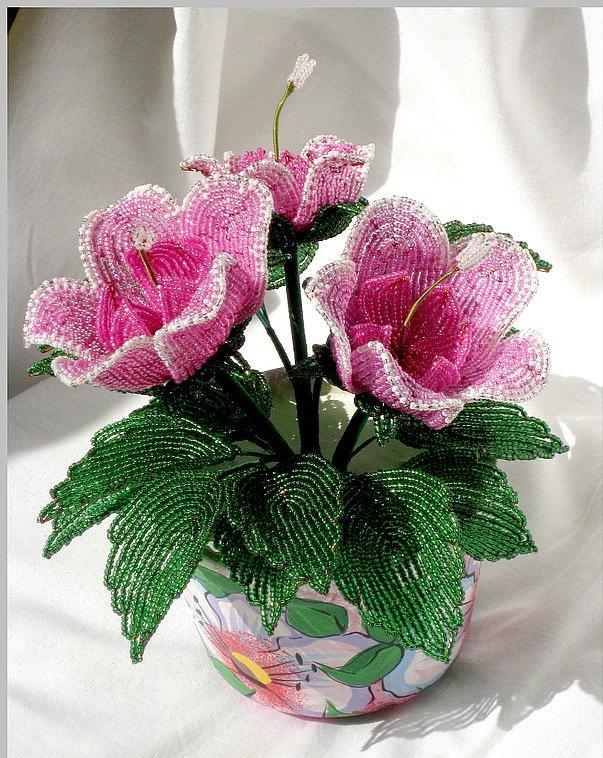 Цветы букеты и композиции из бисера своими руками (фото)