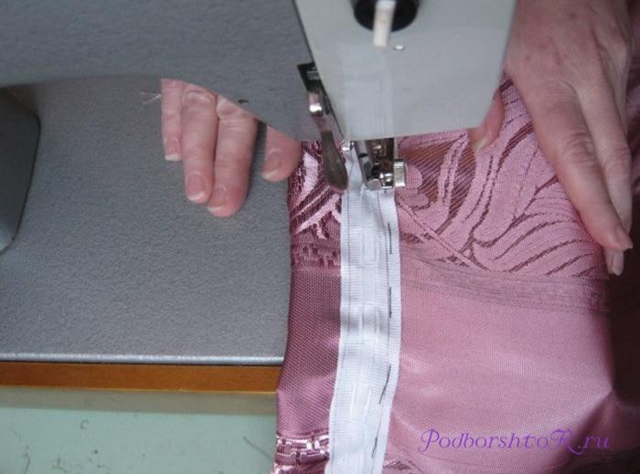 Как подшить занавеску