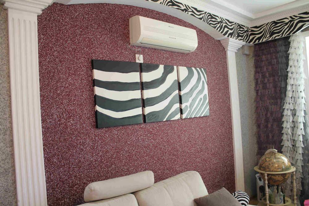 Жидкие обои: фото в интерьере комнат, правильное оформление дизайна