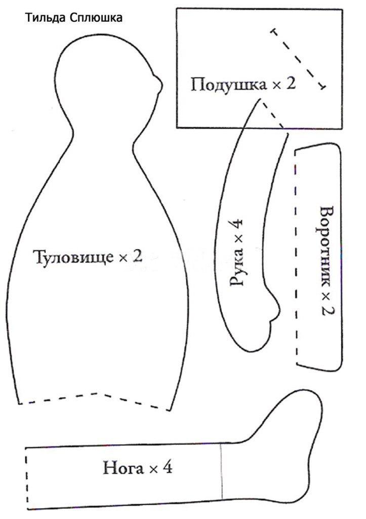 Коза тильда: выкройка мягкой игрушки из ткани и фетра