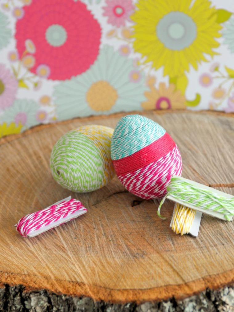 Пасхальные яйца своими руками: яйца из ниток.