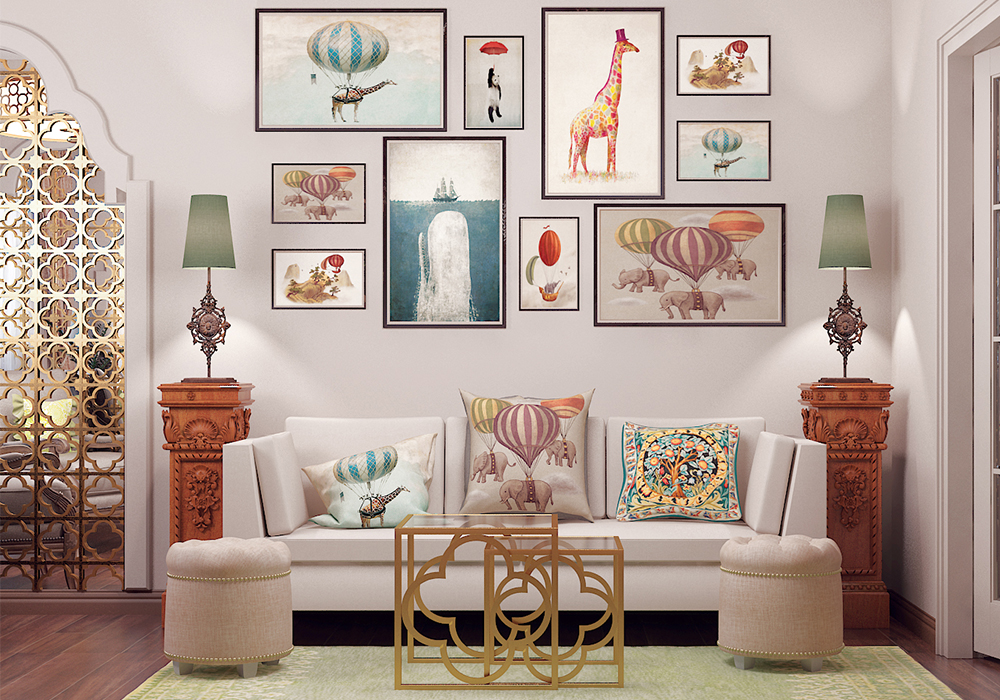 Как украсить пустую стену: оригинальные и стильные интерьерные идеи