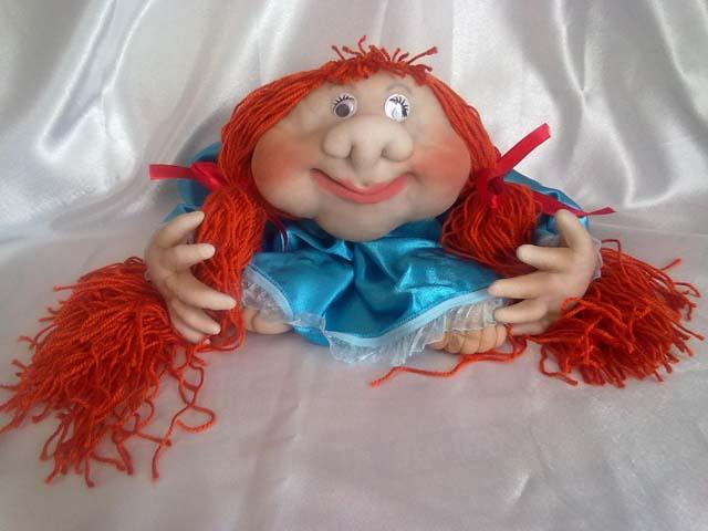Кукла попик в чулочно-текстильной технике - своими руками