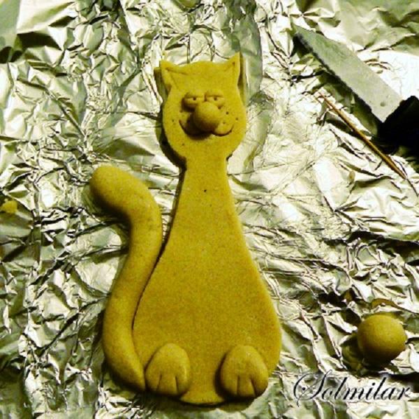 Кот из соленого теста: пошаговый мастер класс с фото и видео