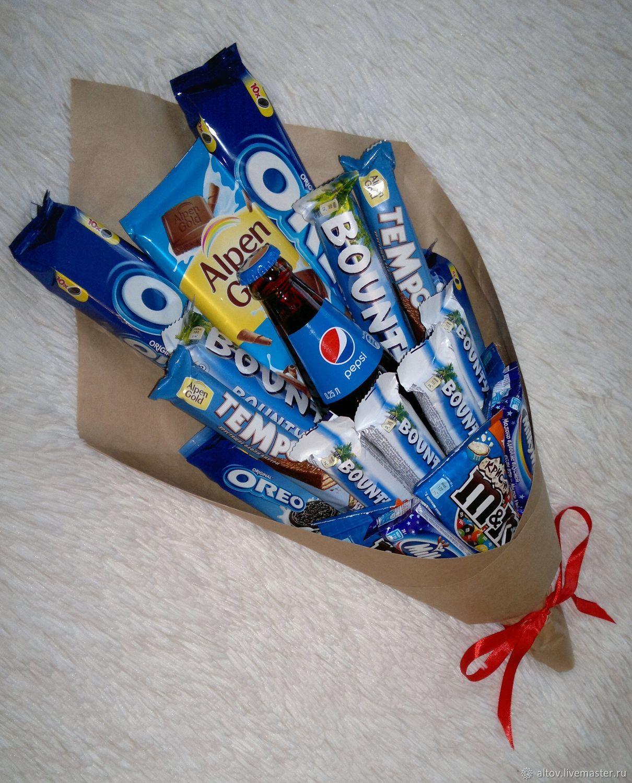 Новогодние букеты из конфет своими руками: 110 фото поделок, видео мастер классы создания сладкого подарка