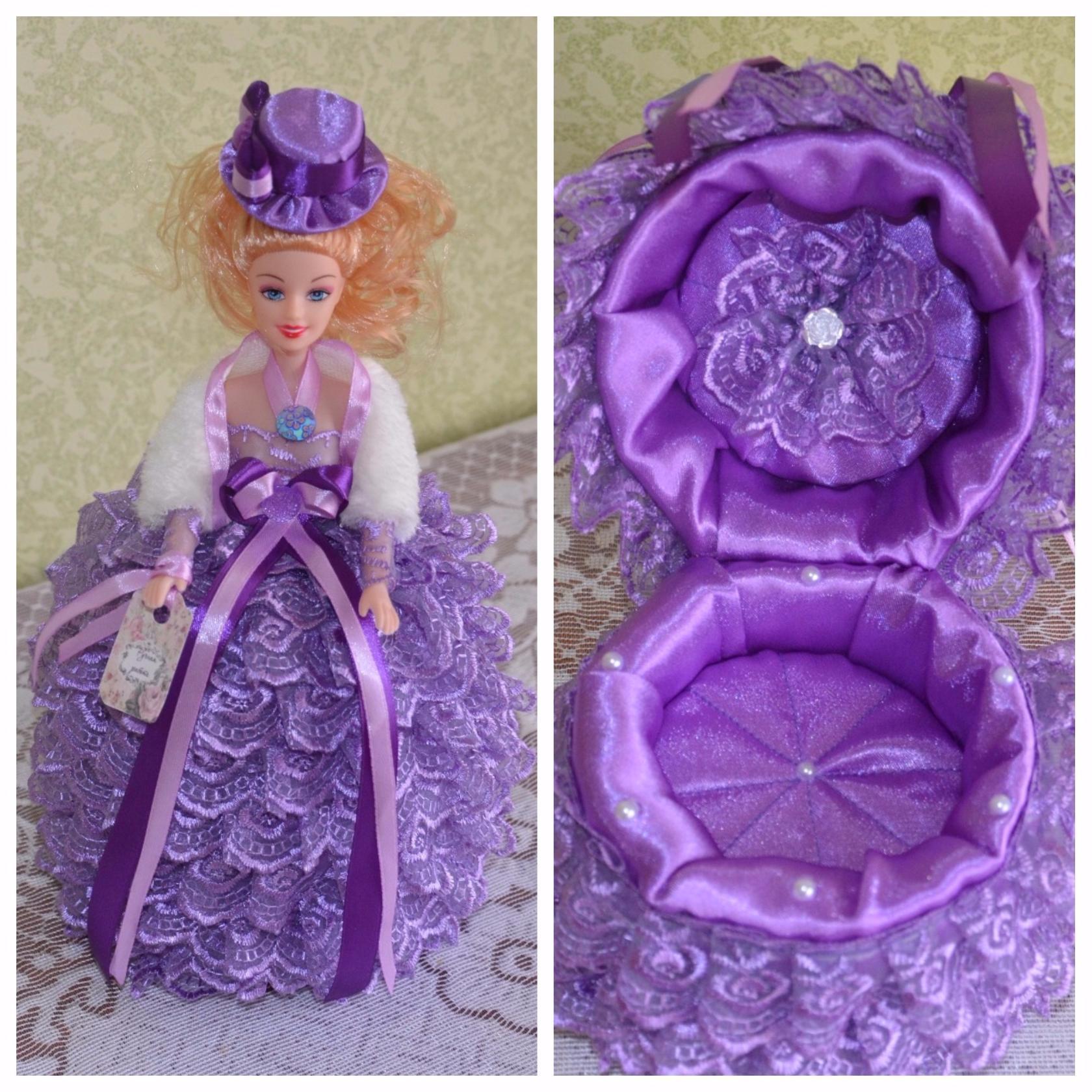 Изготовление куклы шкатулка своими руками. мастер класс