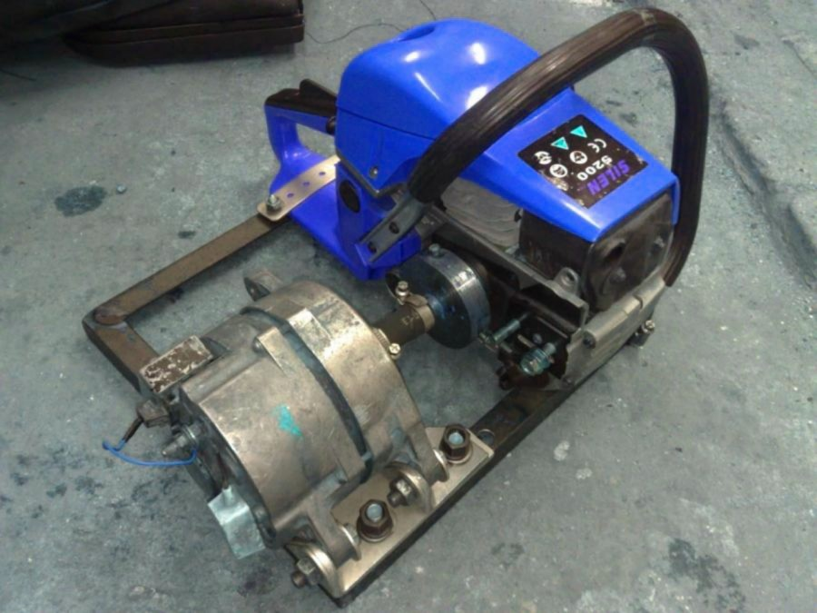 Самодельный генератор на 220 в с использованием 2-х тактного двигателя   kavmaster
