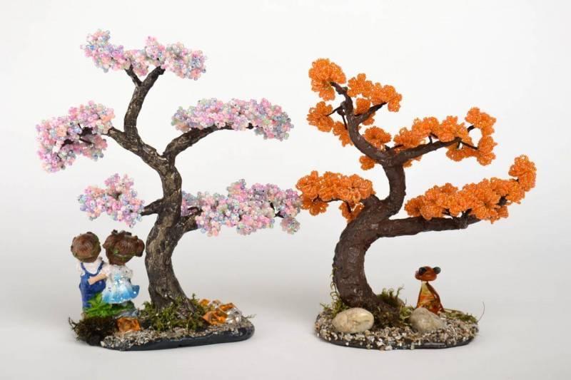 Дерево из бисера своими руками - 120 фото лучших идей и инструкций