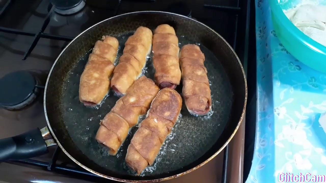 Жареные сосиски на сковороде рецепт с фото пошагово и видео - 1000.menu