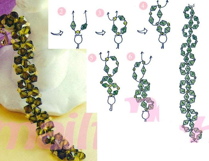 Пошаговые инструкции и схемы плетения красивых браслетов из бисера