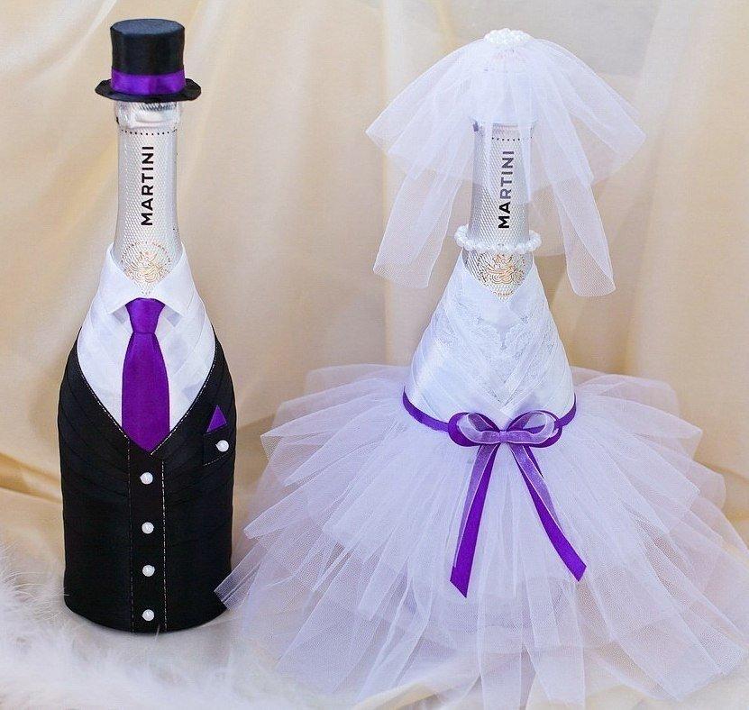 Свадебные бутылки своими руками мастер-класс ? украшение шампанского на свадьбу
