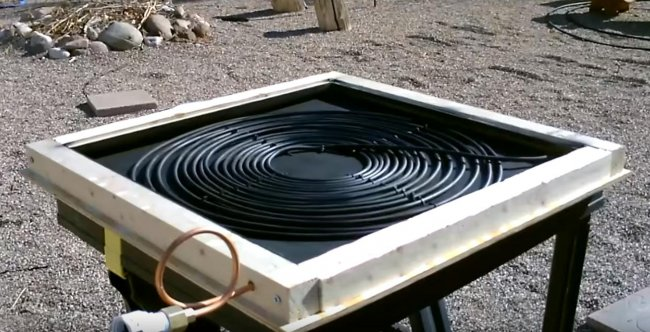 Как сделать солнечный коллектор для нагрева воды своими руками
